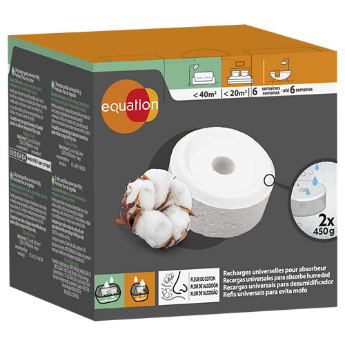 Pack 2 recambios absorbe humedad equation algodón 450 gr