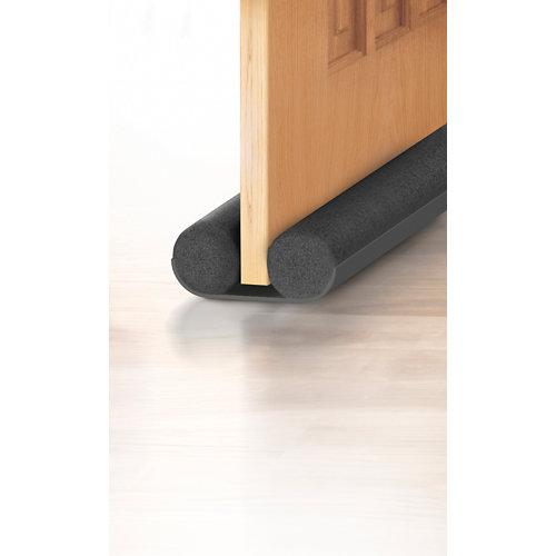 Bajo puerta doble rollo axton 1 m gris