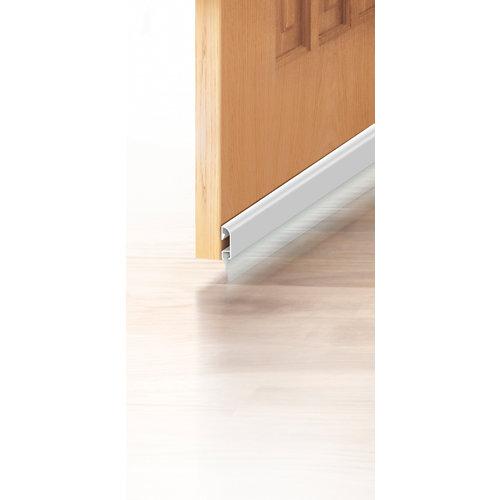Burlete aluminio adhesivo labial blanco para puerta 1 m