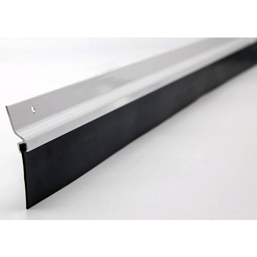 Burlete aluminio adhesivo labial negro para puerta 1,25 m