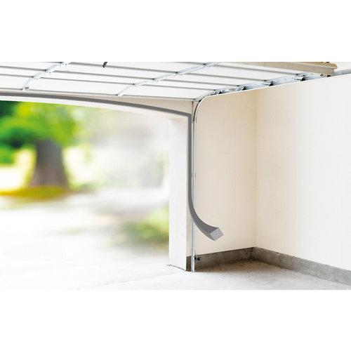 Burlete de puerta de garaje gris / plata 15 m