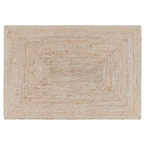 Alfombra beige yute yute ibiza 60 x 110cm