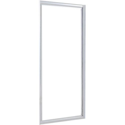 Mampara transparente perfil cromado 80x185 cm