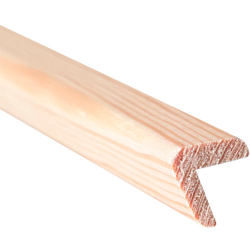 Guardavivo barnizado 2,4x240x2,4 cm