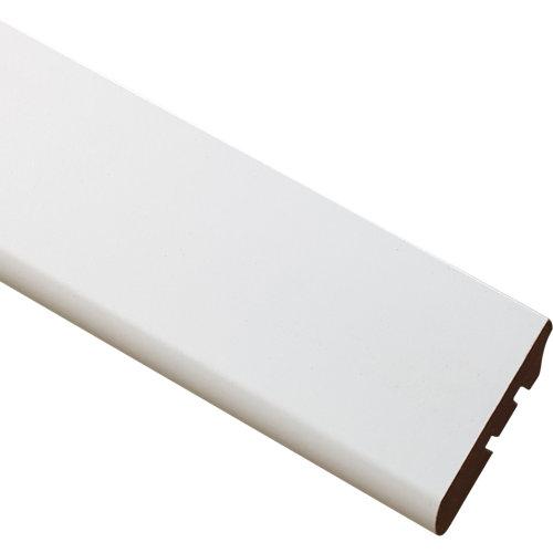 Rodapié liso mdf blanco 6x260x1,2 cm