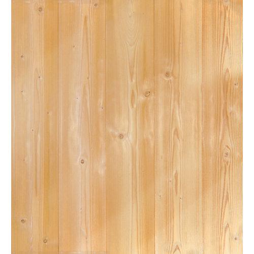 Revestimiento de pared de madera pino barnizado