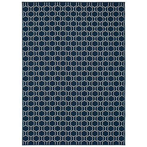 Alfombra azul polipropileno in-out clhoe 20405 140 x 200cm