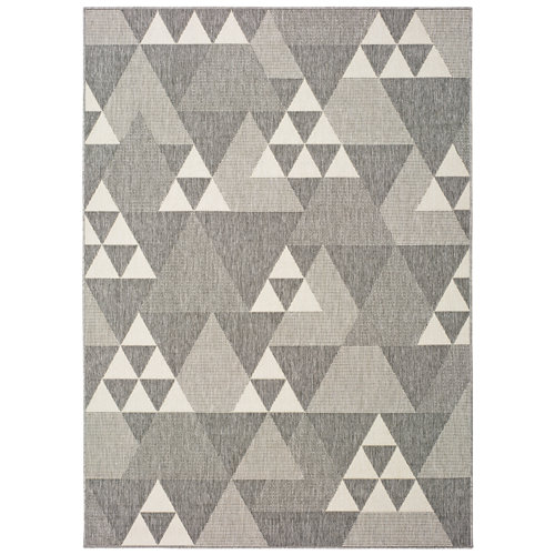 Alfombra gris polipropileno in-out clhoe 20409 120 x 170cm