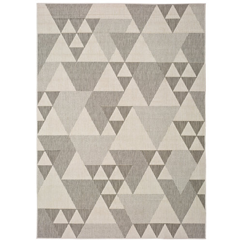 Alfombra gris polipropileno in-out clhoe 20409 80 x 150cm
