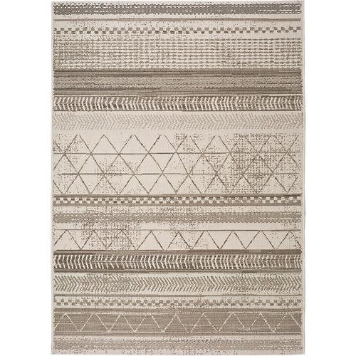 Alfombra gris polipropileno in-out libra 19582 80 x 150cm
