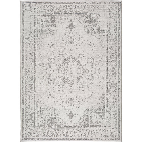 Alfombra gris polipropileno in-out weave 8148 155 x 230cm