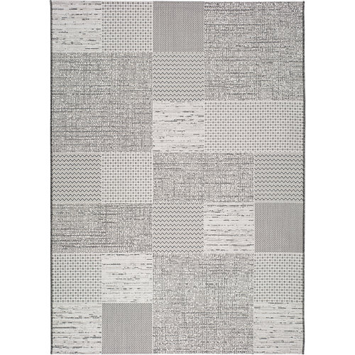 Alfombra gris polipropileno in-out weave 9162 77 x 150cm
