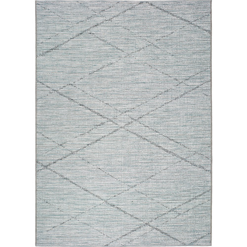 Alfombra azul polipropileno in-out weave 9315 130 x 190cm