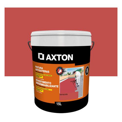 Pintura antigoteras axton 15l terracota