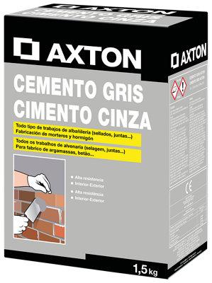 Cemento gris AXTON 1,5 kg