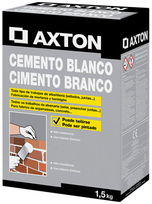 Cemento blanco AXTON 1,5 kg