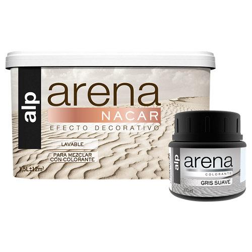 Lote de pintura efecto arena nácar alp gris suave