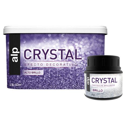 Lote de pintura efecto brillo cristal alp púrpura