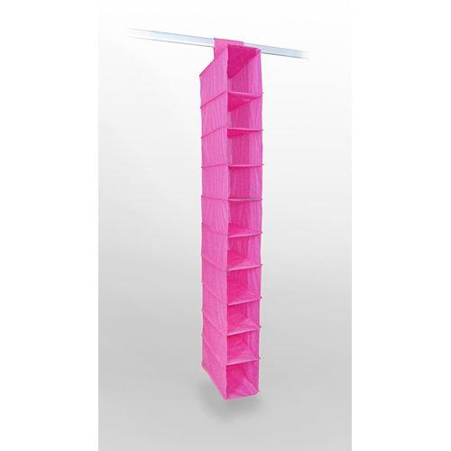 Organizador 10 huecos de peva en color fucsia y 122x15x30 cm