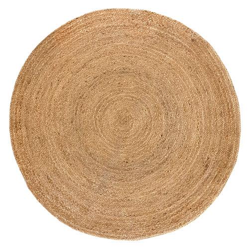 Alfombra beige yute alhambra liso 150 x 150cm