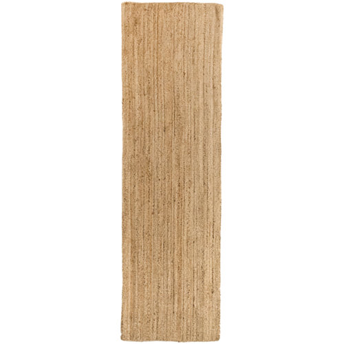 Alfombra beige yute alhambra liso 80 x 200cm