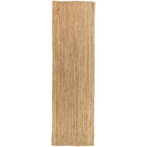Alfombra beige yute alhambra liso 80 x 300cm