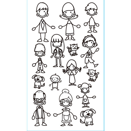 Sticker wa xs family adh. 59001 30x15