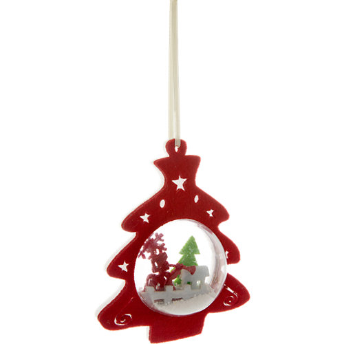Adorno colgante árbol foto navidad 14 cm