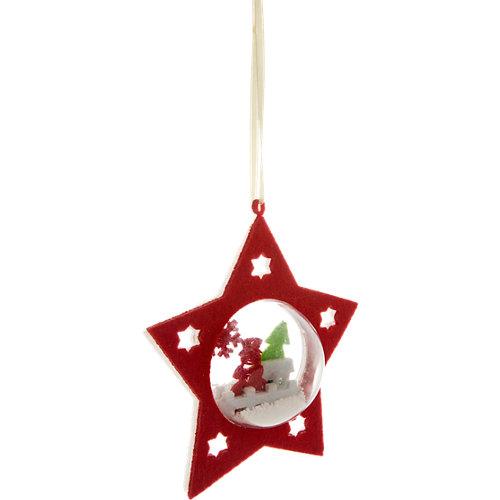 Adorno colgante estrella foto navidad 14 cm