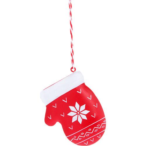 Adorno guante metálico navidad 10 cm