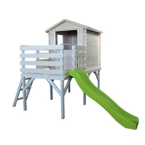 Casa infantil juegos alice 3110x2300x2285mm en postes 90 cm