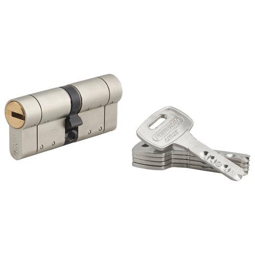 Cilindro alta seguridad federal s 35x35 níquel con 5 llaves