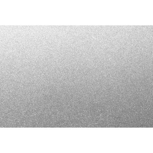 Mini rollo purpurina plata 67,5x200 cm