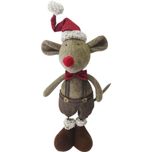 Figura navideña ratón 62 cm