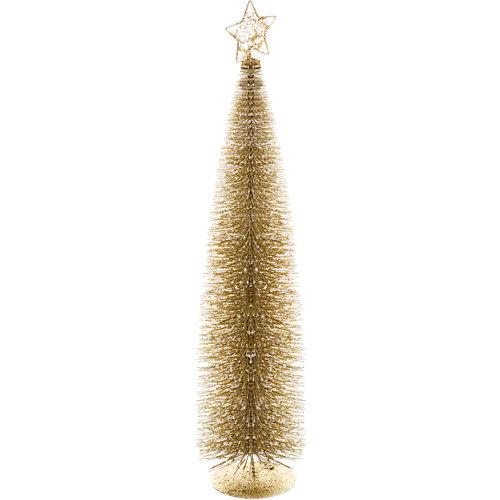 Figura de árbol de navidad dorado 60 cm
