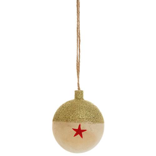 Bola decorativa madera rojo a ø 6 cm