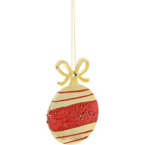 Bola plana colgante dorado navidad ø 9,5 cm