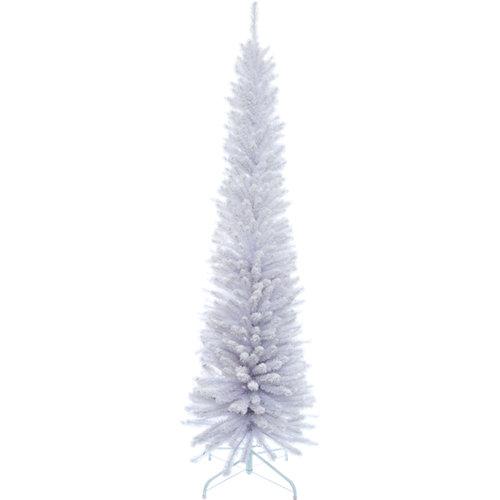 Árbol de navidad blanco slim 180 cm