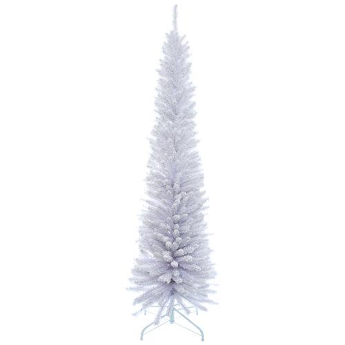 Árbol de navidad blanco slim 210 cm