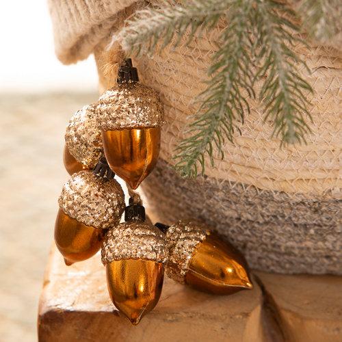 Guirnalda de piñas dorado 30 cm
