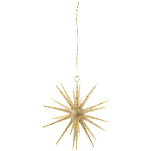Adorno colgante de estrella 10 cm