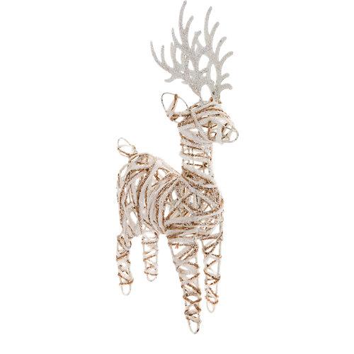 Figura colgante de reno natural 20 cm