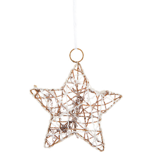 Adorno colgante de estrella natural 20 cm