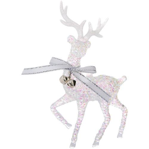 Adorno en forma de reno cristal navidad 15 cm