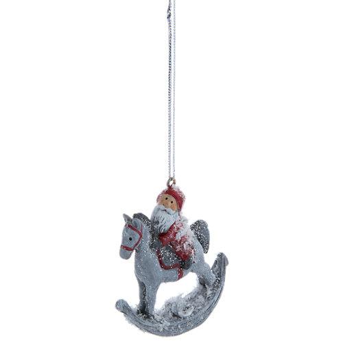 Adorno colgante de santa navidad 6,5 cm
