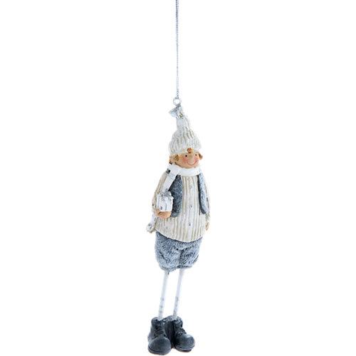 Adorno colgante niños navidad 14 cm