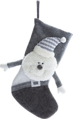 Adorno colgante calcetín Navidad 45 cm