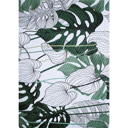 Alfombra de vinilo impresa teplon® amazónica verde 140x200
