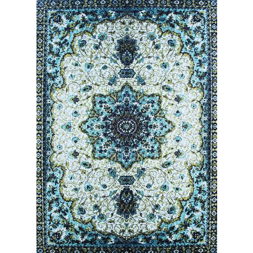 Alfombra de vinilo impresa teplon® omán turquesa 120x180
