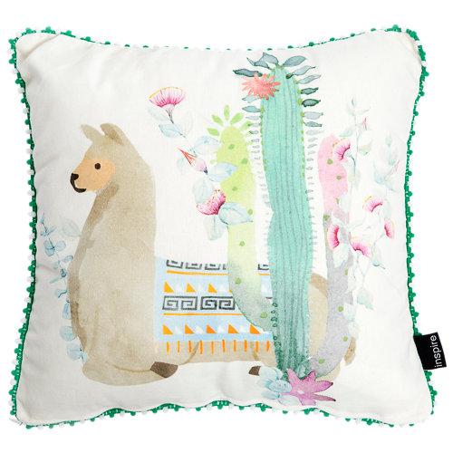 Cojín inspire llama multicolor multicolor 40 x40 cm